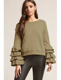 shoptagr tiered ruffle sleeve sweater by forever 21