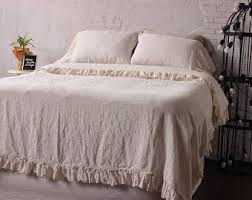 Ruffle Duvet Cover Full 100 Linen Duvet Cover Eco Organic Bedding Twin Full Queen
