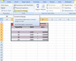 convert the table to a normal range advanced excel tips and tricks for windows users