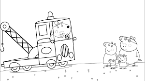 transport coloring pages with daddy pig peppa pig videos for kids