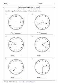 finding angle measures worksheet worksheets