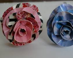 Duct Tape Flowers Vases And Pens Flower Pens Etsy