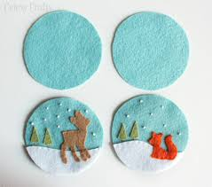 felt christmas ornaments deer and fox felt christmas ornaments cutesy crafts