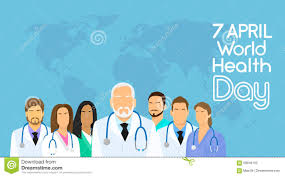 Holiday World Map by Medical Doctor Team Group Over World Map Background Healthy Day
