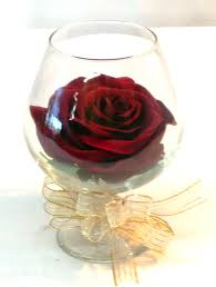 rose in glass forever rose in brandy glass g 1705 fiesta flowers plants gifts
