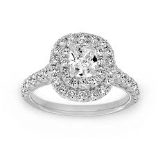 diamond double rings images Henri daussi cushion cut diamond double halo engagement ring jpg