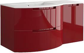 53 inch modern floating bathroom vanity black glossy finish with