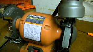 central machinery 6 inch bench grinder w light youtube