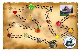 map easter egg hunt map template