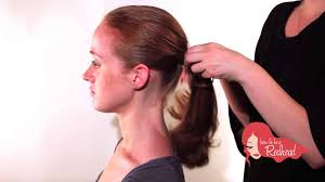 tutorial for perfect ponytail and chignon how to hairstyle