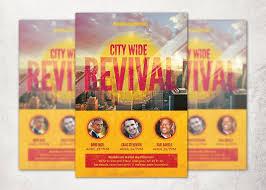 city wide revival church flyer flyer templates creative market