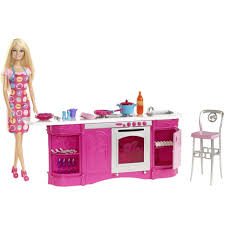 barbie cooking fun kitchen doll dolls with accessories homeshop18