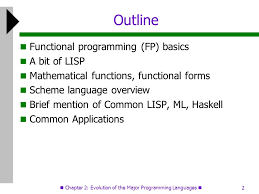 1 functional programming in text chapter chapter 2 evolution of