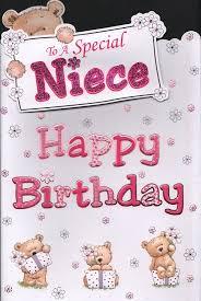 niece birthday card to a special niece happy birthday amazon