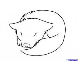 cartoon drawings of wolves how to draw a sleeping wolf pup step