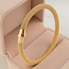 black gold bangle bracelet images Fashion twisted 316l stainless steel cable bangle bracelet silver jpg
