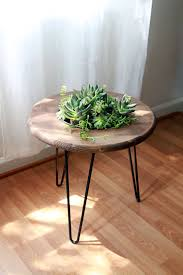 hairpin leg coffee table round garden table by gems of the soil artisan crafted pinterest
