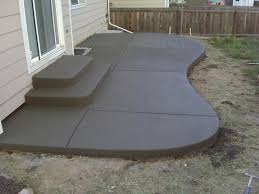 Cement Designs Patio Pleasant Backyard Patio Ideas Concrete Que Hardscape Decoration