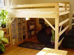 Loft Bed Frames Bedroom King Size Loft Bed Frame Add Beaded Curtain To Loft Bed