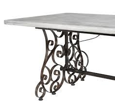 rosalie concrete top rectangular dining table pottery barn