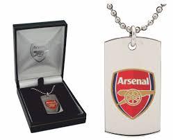 Engraved Football Gifts Engraved Arsenal Football Id Dog Tag And Gift Box A1