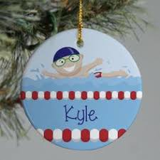 swimming ornament swimming ornaments swim team gift