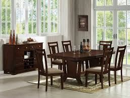 11 Piece Dining Room Set Miraval 5 Piece Cherry Brown Round Dining Set Contemporary Dining