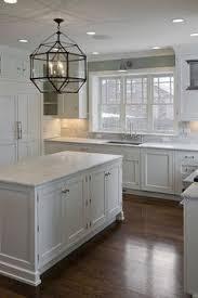 White And Gray Kitchen Cabinets by Grey White Kitchen W Dark Wood Floors Farmhouse Sink Dream
