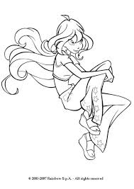 fairy winx bloom coloring pages hellokids