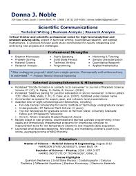 Scientist Resume Examples by Science Resume Writing Science Resume Template Resume Template