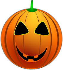 grinning jackolantern free halloween vector clipart illustration