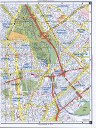 New York City Area Map by Western Bronx Street Map