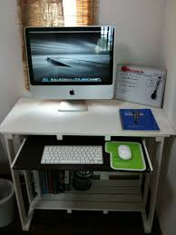 affordable design of diy office desk with four black gothic swivel