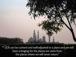 minarets at dusk quote Third Culture Kid Pinterest