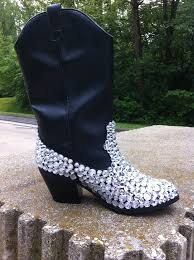 s boots with bling custom embellished rhinestone cowboy boots by sixpenceshoes