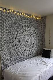 White Hippie Bedroom Black And White Floral Hippie Elephant Mandala Tapestry