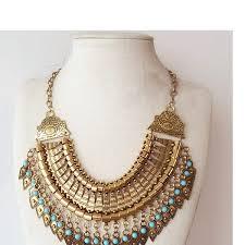gold vintage statement necklace images Bohemian fringe tassel collar statement necklace vintage boho jpg
