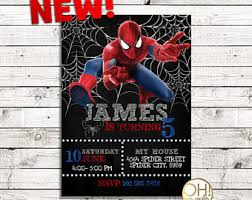 spiderman birthday etsy