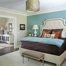 Bedroom Accent Wall Bedroom Wall Paint Ideas Cool Bedroom With Skylight Blue Accent
