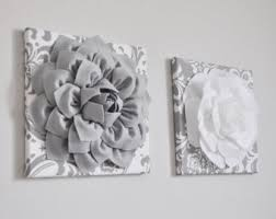 nursery wall decor large gray bows and light pink