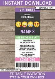 emoji birthday invitations free printable template party