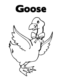 printable animal coloring pages goose for kids animal coloring