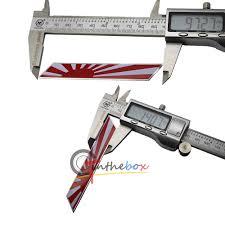 lexus is300 front grill emblem jdm japan rising sun flag emblem plate badge for front grille side