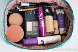 what u0027s in my travel make up bag perpetually daydreaming