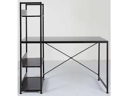 bureau metal et verre bureau allblack vente de bureau conforama