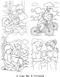 lds coloring pages i can be a good exle i can be a friend coloring page for lesson 33 lds primary lessons