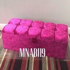 36inch pink crushed velvet ottoman storage box u2013 nabi u0027s