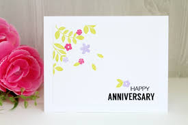 happy anniversary cards handmade happy anniversary card with flowers la carterie de juliette