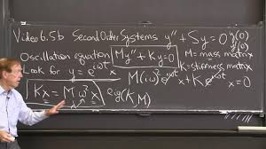differential equations and linear algebra 6 5b second order