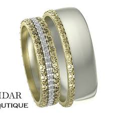 unique matching wedding bands his and hers best unique wedding band sets products on wanelo